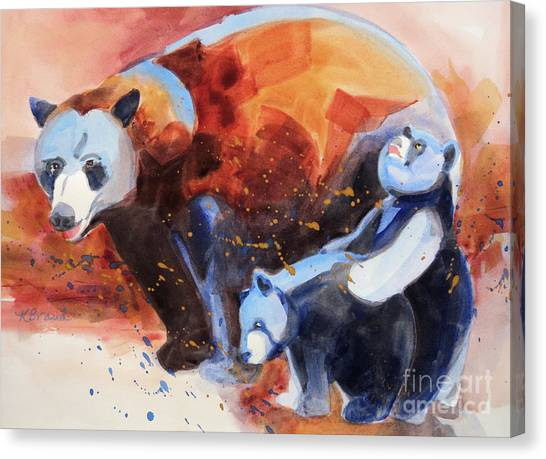 Bear Family Outing Canvas Print