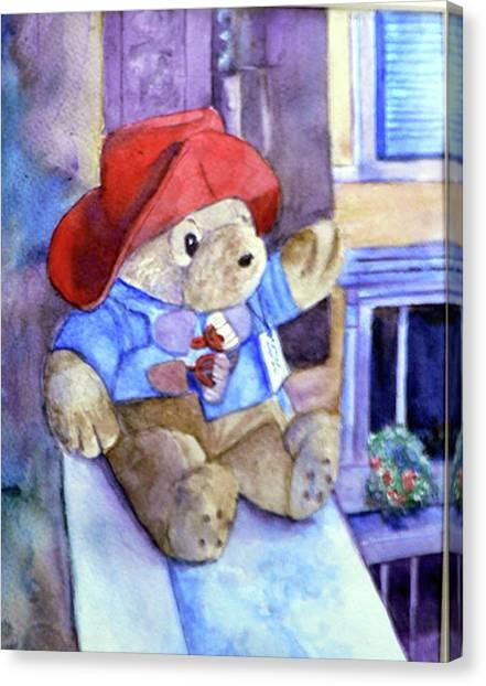 Bear In Venice Canvas Print
