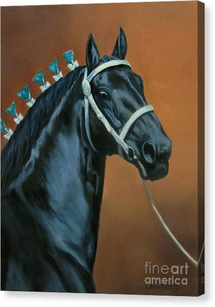 Draft Horses Canvas Print - Bear by Jeanne Newton Schoborg