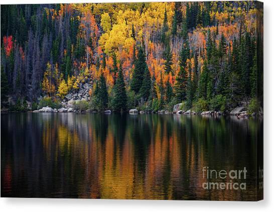 Bear Lake Autumn Reflections Canvas Print