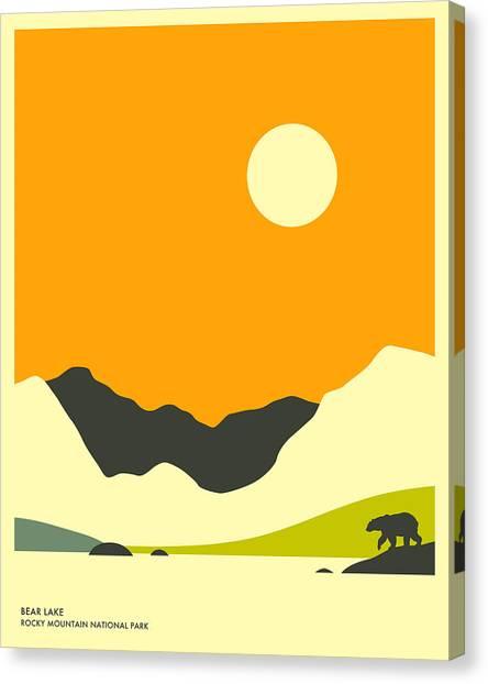 Rocky Mountains Canvas Print - Bear Lake by Jazzberry Blue