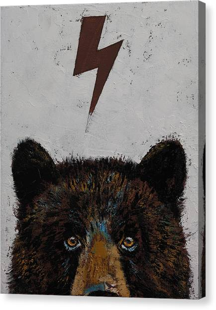 Black Bears Canvas Print - Bear by Michael Creese