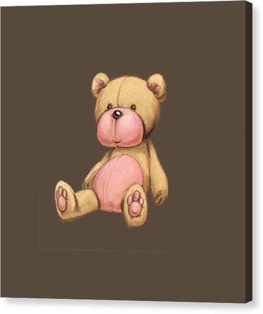 Bear Pink Canvas Print