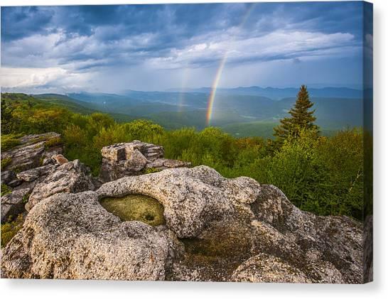 Bear Rocks Rainbow Canvas Print