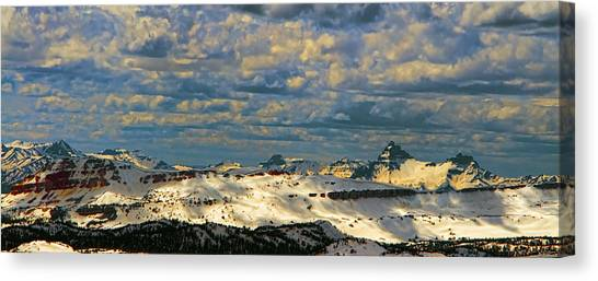 Bear Tooth Mountain Range Canvas Print