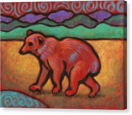 Bear Totem Animal Canvas Print by Linda Ruiz-Lozito