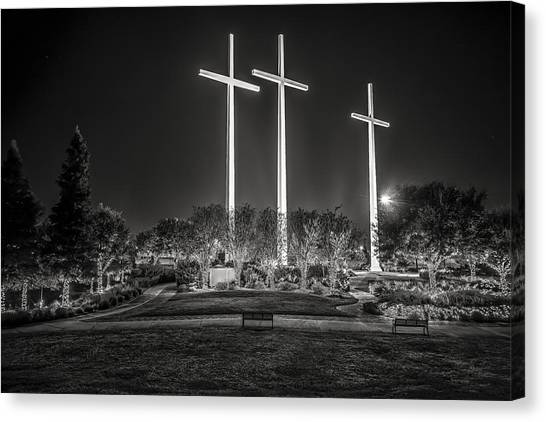 Bearing Witness In Black-and-white 2 Canvas Print