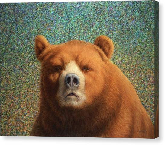 Bears Canvas Print - Bearish by James W Johnson