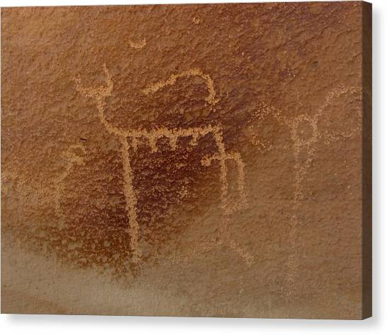 Canvas Print - Beastie Petroglyph by Russell Wilson