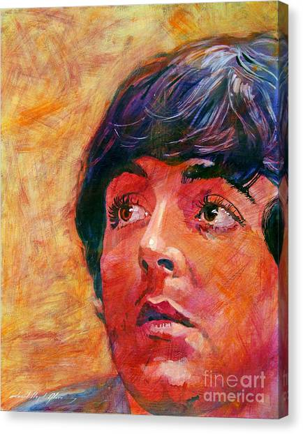 Paul Mccartney Canvas Print - Beatle Paul by David Lloyd Glover