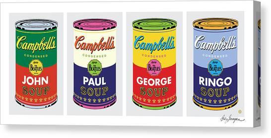 Beatle Soup Cans Canvas Print