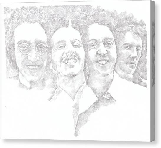 Starkey Canvas Print - Beatles 1969 by Irakli Jorjadze
