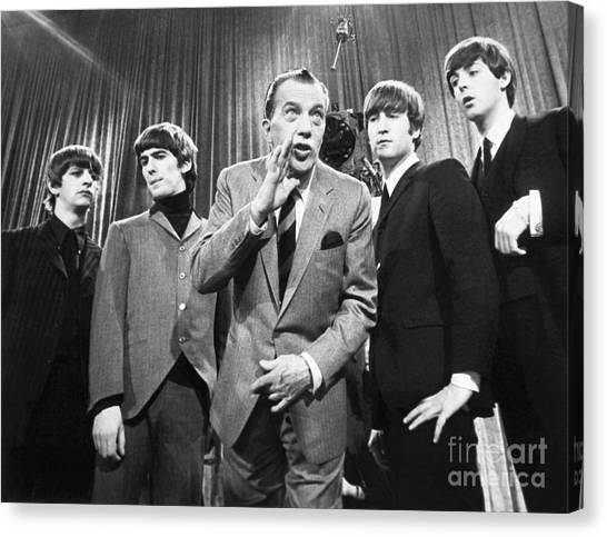 Beatles And Ed Sullivan Canvas Print