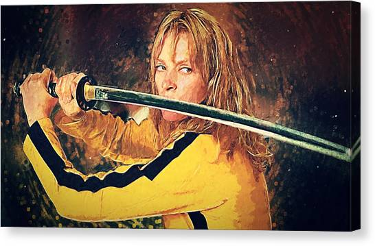 Kung Fu Canvas Print - Beatrix Kiddo - Kill Bill by Zapista