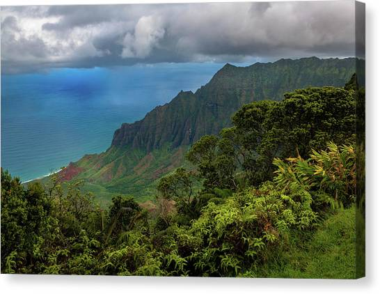 Beautiful And Illusive Kalalau Valley Canvas Print