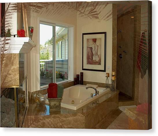 Beautiful Bath Canvas Print