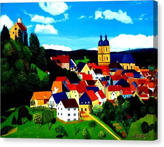 Beautiful Bavarian Village Canvas Print