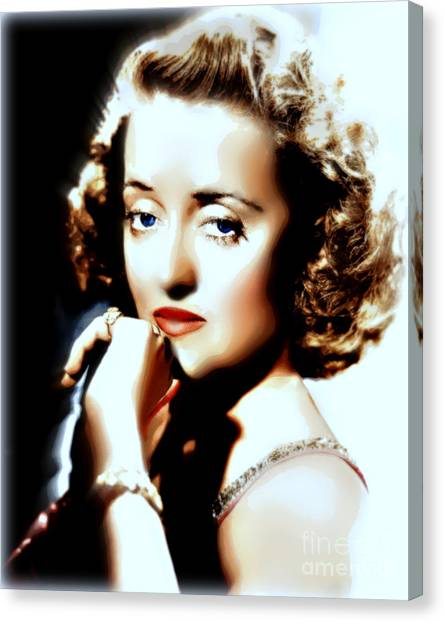 Beautiful Bette Canvas Print