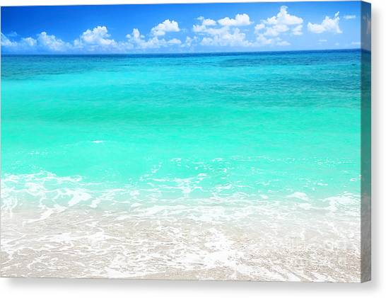 Beautiful Blue Sea Beach Canvas Print