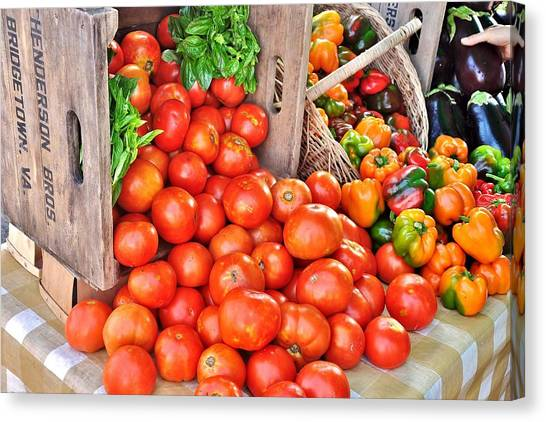 The Bountiful Harvest At The Farmer's Market Canvas Print
