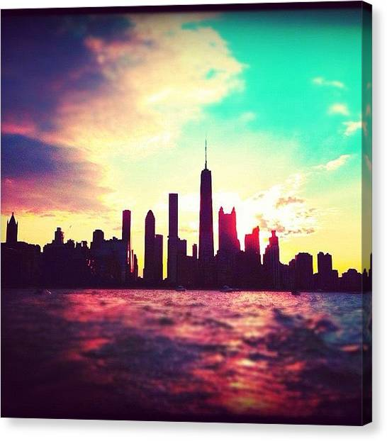 Lake Michigan Canvas Print - Beautiful Chicago Skyline by Veronica Martinez