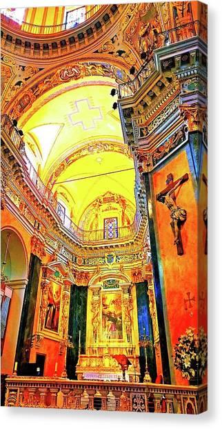 Beautiful Church In Nizza Canvas Print