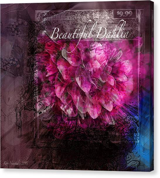 Beautiful Dahlia Canvas Print