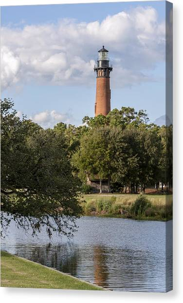 Beautiful Day At Currituck Beach Lighthouse Canvas Print