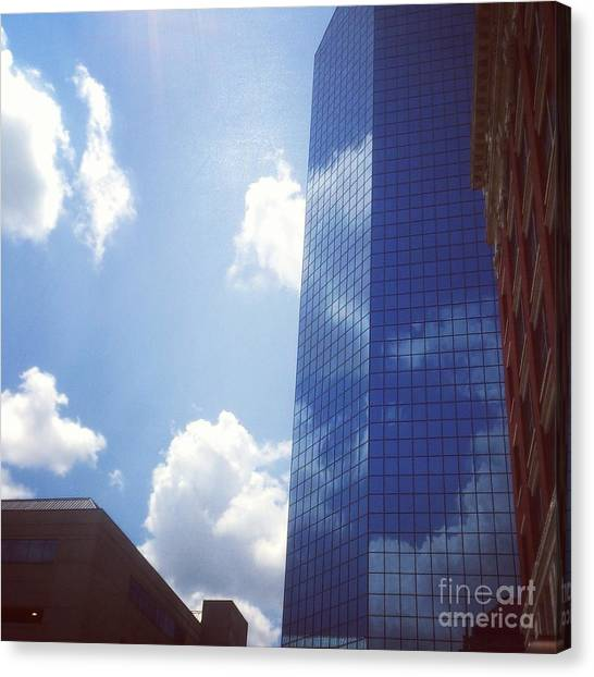 Canvas Print featuring the drawing Beautiful Day In Lexington, Ky by Rachel Maynard