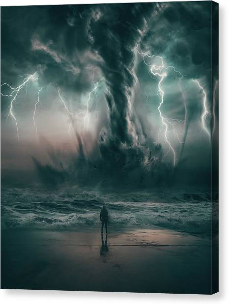 Tornadoes Canvas Print - Beautiful Destruction by Alexander McWherter