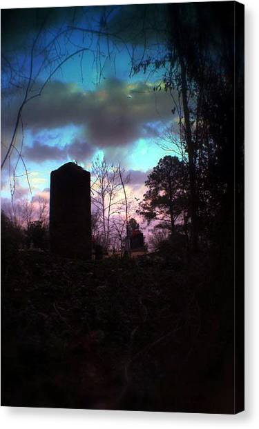 Beautiful Evening In The Graveyard Canvas Print