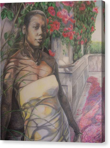 Beautiful Flower Canvas Print by Joyce McEwen Crawford