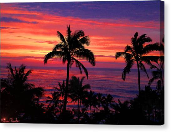 Canvas Print - Beautiful Hawaiian Sunset by Michael Rucker