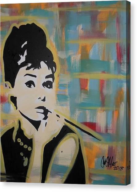 Beautiful Hepburn Canvas Print