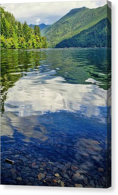 Canvas Print featuring the photograph Beautiful Lake Crescent Washington by Dan Sproul