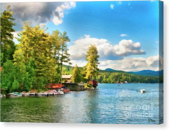 Beautiful Lake George New York Canvas Print by Anne Kitzman