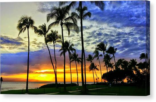 Beautiful Maui Hawaii Sunset Canvas Print