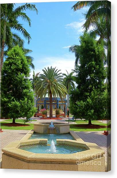 Beautiful Mizner Park In Boca Raton, Florida. #8 Canvas Print