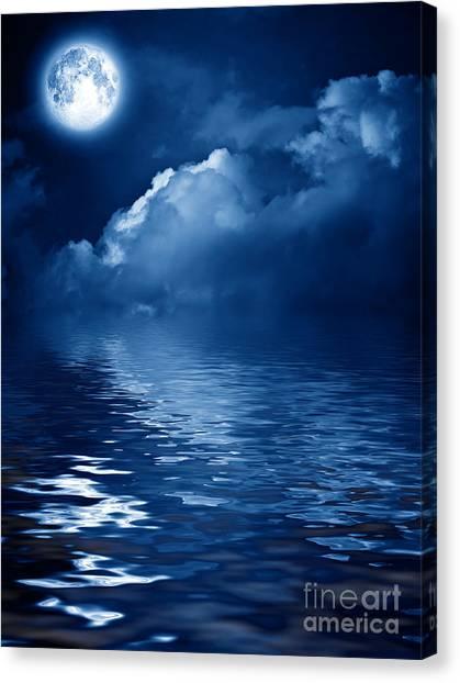 Beautiful Mysterious Moon Canvas Print