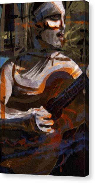 Classical Guitars Canvas Print - Beautiful Notes by Russell Pierce