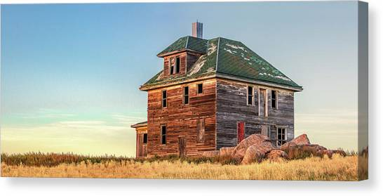 Prairie Sunrises Canvas Print - Beautiful Old House by Todd Klassy