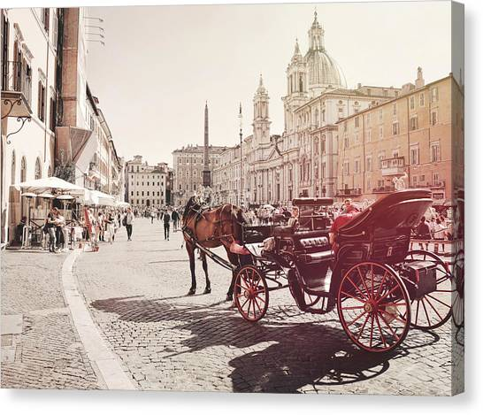 Beautiful Piazza Canvas Print by Dressage Design