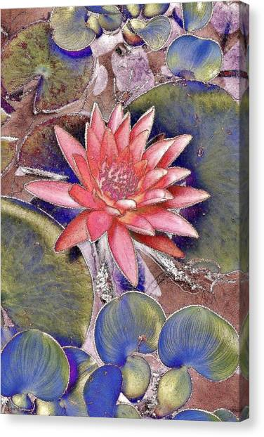 Canvas Print featuring the photograph Beautiful Pink Lotus Abstract by Kim Bemis