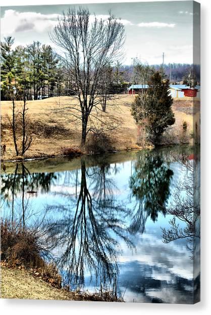 Beautiful Reflection 2 Canvas Print by Kathy Jennings