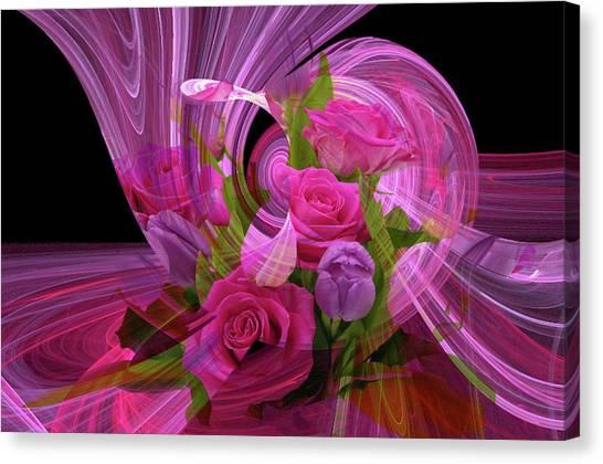 Beautiful Rose Bouquet Montage Canvas Print