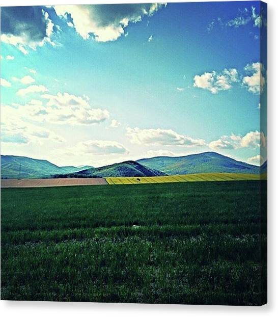 Peacocks Canvas Print - #beautiful #slovakia #roznava #sky by Matus Hulyop