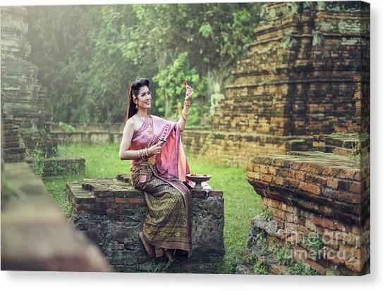 Lao Silk Canvas Prints Fine Art America