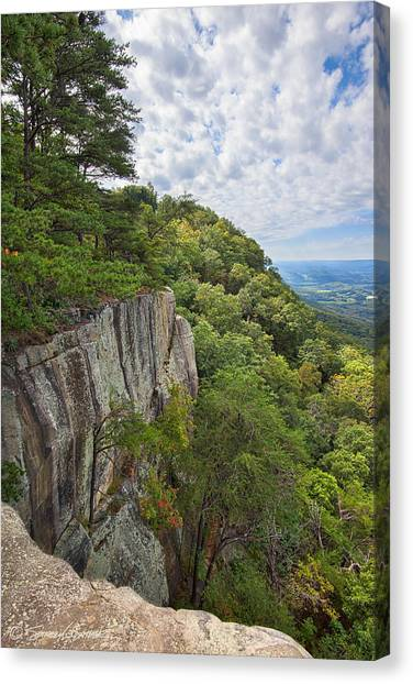 Beautiful View From Sunset Rock On Lookout Mt.  View From Sunset Rock 2 Canvas Print