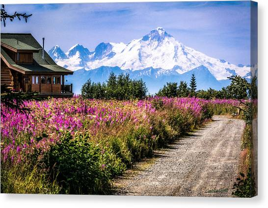 Beautiful View Of A Scary Mountain Canvas Print