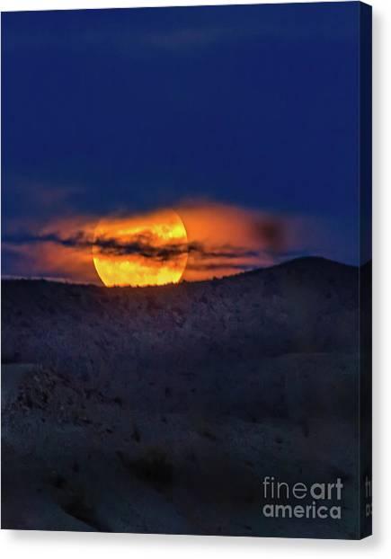 Wolf Moon Canvas Print - Beautiful Wolf Moon by Robert Bales